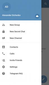 Аккаунт в Telegram