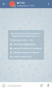 Секретный чат в Телеграмме
