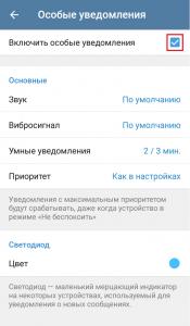 Особые уведомления в Телеграмм
