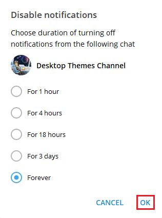 отключить уведомления на компе в Телеграмм