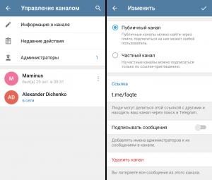 Управление каналом в Телеграмм